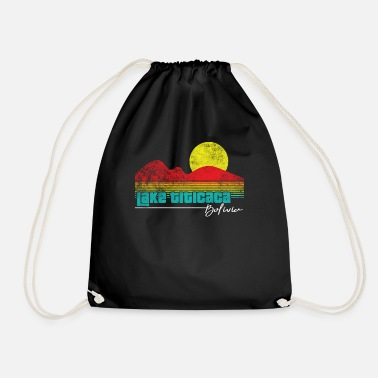 Lake Titicaca Retro Lake Titicaca Bolivia Ocean Graphic Vintage - Drawstring Bag