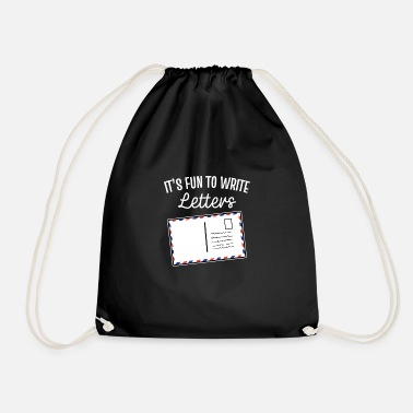 Letter Boxing Pen Friend Nostalgic Letter Friendship Mail Gift - Drawstring Bag
