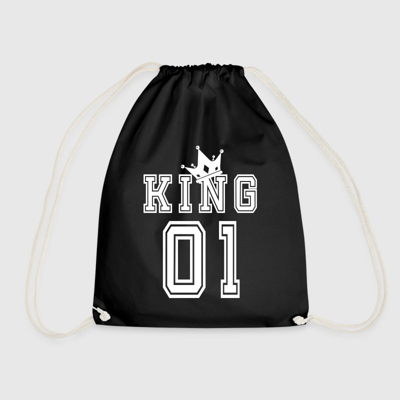 Valentine's Day Matching Couples King Jersey - Drawstring Bag