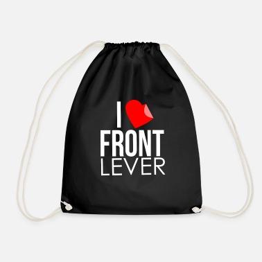 Lever I Love Front Lever - Drawstring Bag