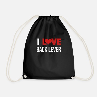 Lever I Love Back Lever - Drawstring Bag