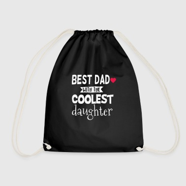 BEST DAD DAUGHTER father daughter dad gift - Drawstring Bag