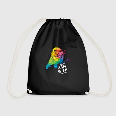 Lion wilderness - Drawstring Bag