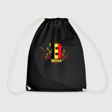 Belgium devil football stadium - Drawstring Bag