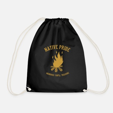 American Indian Campfire Native American Indians - Drawstring Bag