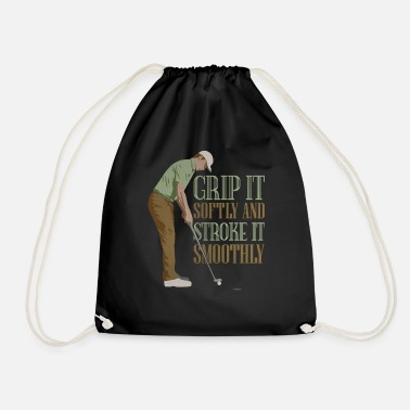 Funny Golf Putter - funny ironic golf shirt - Drawstring Bag