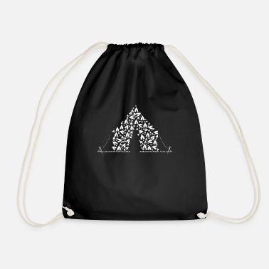 Tent Tent made of tents - Drawstring Bag