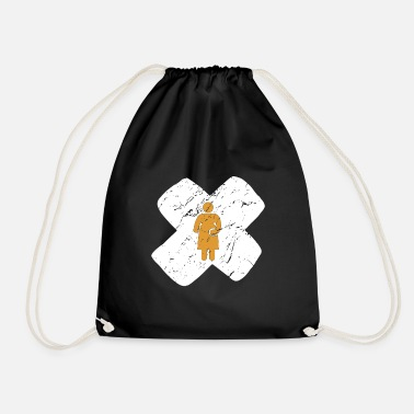 Belly Pregnancy mother baby belly cross gift - Drawstring Bag