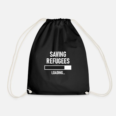 Germany Refugee helper I help refugees - Drawstring Bag