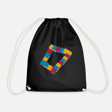 Toy optical illusion - endless steps - Drawstring Bag