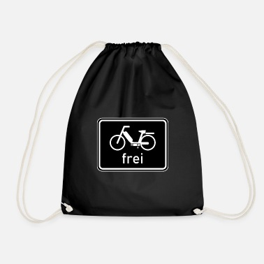 50 Cm³ Bicycle path - moped free sign, 25 km / h, 50cc - Drawstring Bag