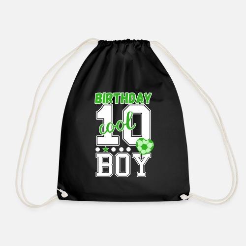 10 Geburtstag Nummer 10 Fussball Junge Turnbeutel Spreadshirt