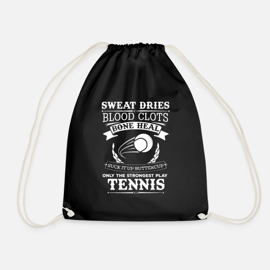 Tennis Bags & Backpacks - Tennis today, tennis shirt, tennis bag - Drawstring Bag black
