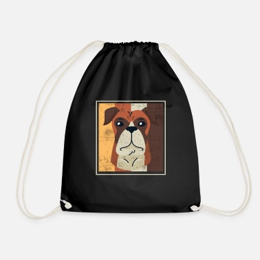 Shepherd Dog gift idea for puppy dog lovers - Drawstring Bag