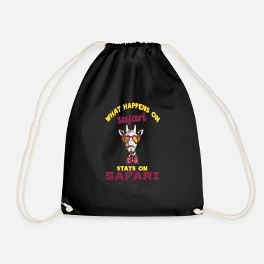 Safari safari - Drawstring Bag