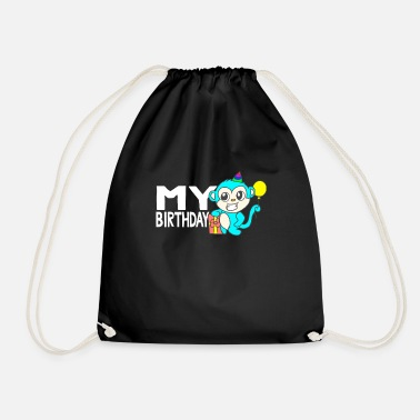 Childrens Birthday Party Birthday shirt for kids for their birthday - Drawstring Bag