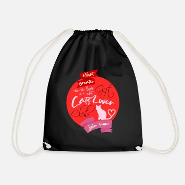 What greater gift than the love of a cat - Drawstring Bag