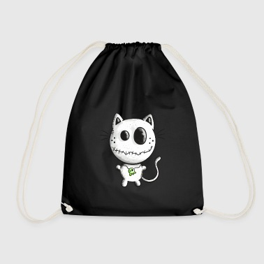 Halloween Katze - Kitten - Skull - Comic - Fun - Turnbeutel