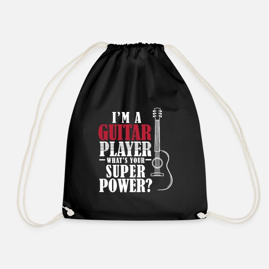 Guitar Bags & Backpacks - I'm A Guitar Player Shirt - Drawstring Bag black