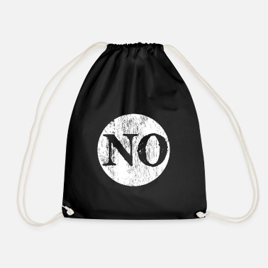 Typography No. Non. Nope. Typography typography word - Drawstring Bag