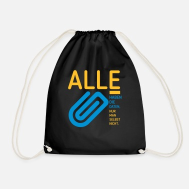 Data the data - Drawstring Bag