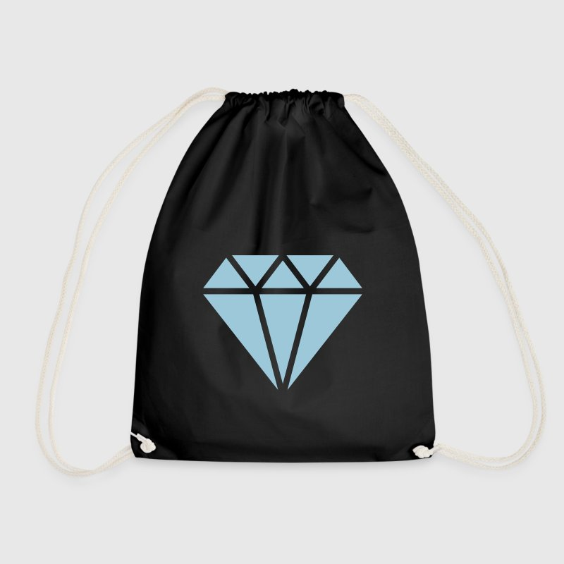 Diamond symbol, triangle, cubic, abstract, ever - Drawstring Bag