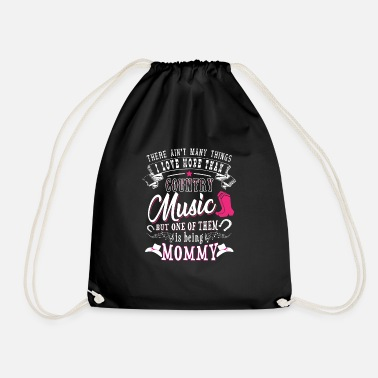 I Love Music &amp I love Mommy more than Country Music - Drawstring Bag