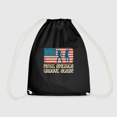 Make America groove again - USA dancing flag - Mochila saco