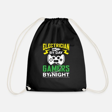 Torrent Electrician by Day Gamers by Night - arcade player - Mochila saco