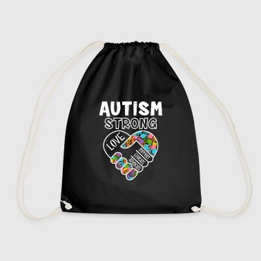 Advocate Autism strong love support educate advocate - Drawstring Bag