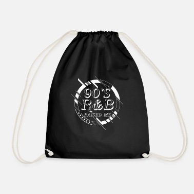 Old School &amp 90's R&B Raised me - good old times music  - Drawstring Bag