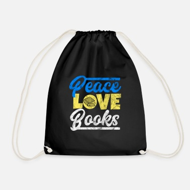 Akademiske Peace, Love and Books - Gift for akademisk - Gymbag