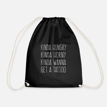 Hungry Hungry Horny Tattoo - Hungry Horny and Tattoo - Drawstring Bag