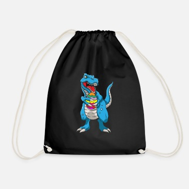 Easter Bunny Dinosaur T-Rex Easter Bunny Happy Easter Gift - Drawstring Bag