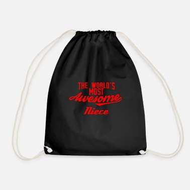 Niece The world's most awesome Niece - red - Drawstring Bag