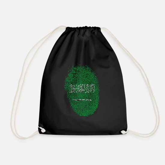 Arabia Bags & Backpacks - Saudi Arabia fingerprint - Drawstring Bag black