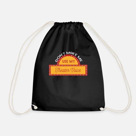 Actor Bags & Backpacks - Theater - Actor - Actors - Acting - Drawstring Bag black