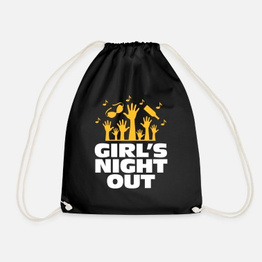 Out Girls Night Out! - Drawstring Bag