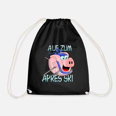 Ski Hut Apres Ski - hut fun - Drawstring Bag