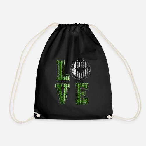 Fussball Kicker Liebe Fussballfan Love Geschenk Turnbeutel Spreadshirt