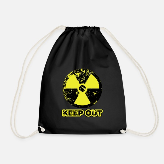 Radioactive Bags & Backpacks - Keep out atom - No access to nuclear power - Drawstring Bag black