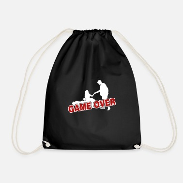 Over Game over - the game is over - Drawstring Bag