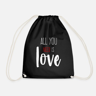 all you need is love - Drawstring Bag