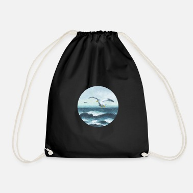 Nature Collection V2 seagulls - Drawstring Bag