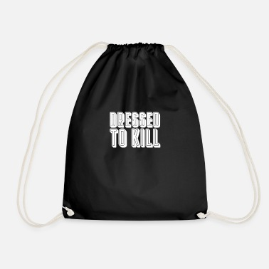 Depressed Depressive - Drawstring Bag