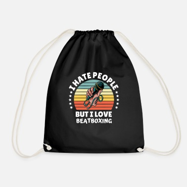 School Hate People Love Beatboxer Rapper gift idea - Drawstring Bag