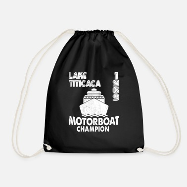 Lake Titicaca 1969 Lake Titicaca Motorboat Champion Dirty Joke F - Drawstring Bag