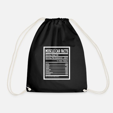 Powerful Cars Muscle Car: Tuning Facts and Power Car Fans - Drawstring Bag