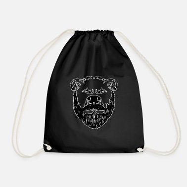 Macho Bear With Beard Beard Grizzly Black Bear Gift - Gymtas