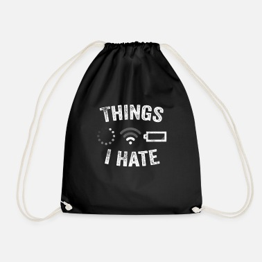 Video Buffer Things I Hate Funny Video Gamer Gift Programmer - Drawstring Bag